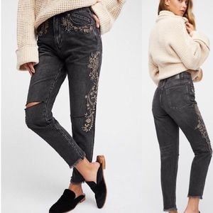 One Teaspoon Royal Rock Embroidered Jeans NEW